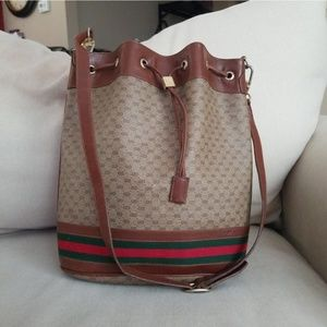Authentic Vintage Gucci Bucket Bag